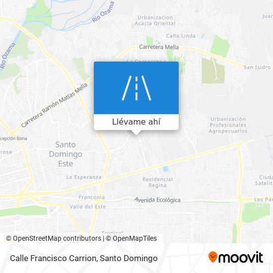 Mapa de Calle Francisco Carrion