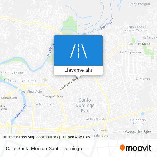 Mapa de Calle Santa Monica