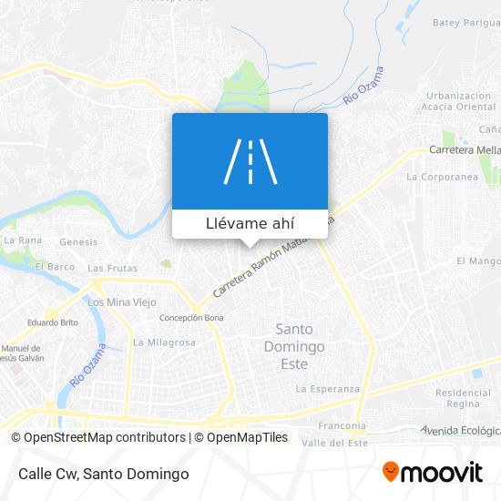 Mapa de Calle Cw