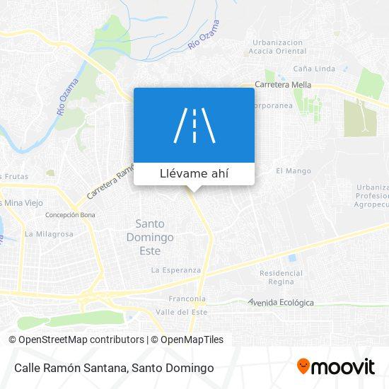 Mapa de Calle Ramón Santana