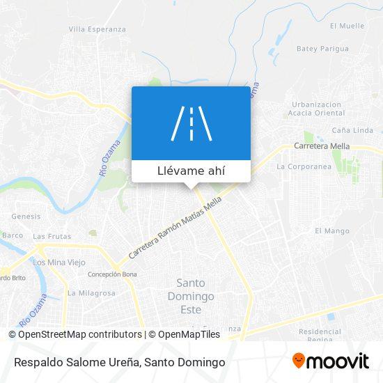 Mapa de Respaldo Salome Ureña