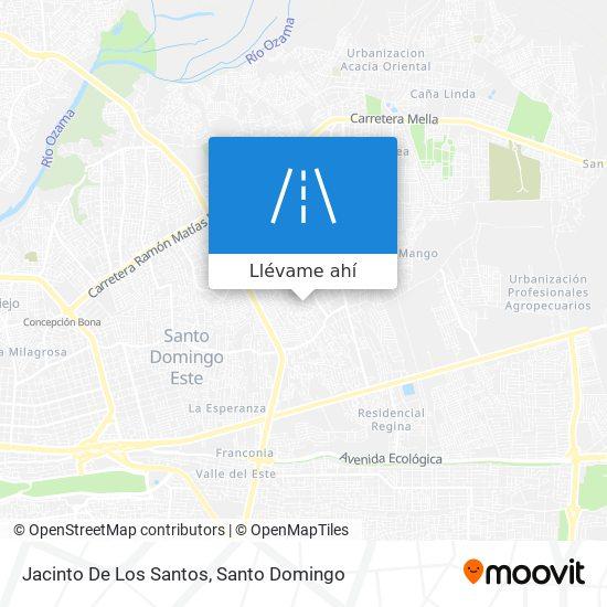 Mapa de Jacinto De Los Santos
