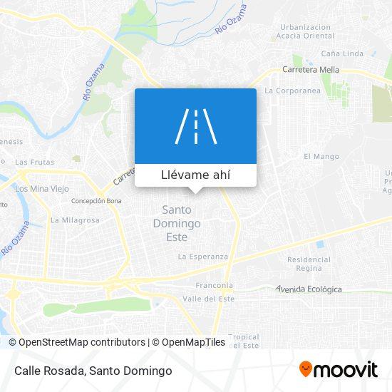 Mapa de Calle Rosada