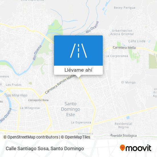 Mapa de Calle Santiago Sosa