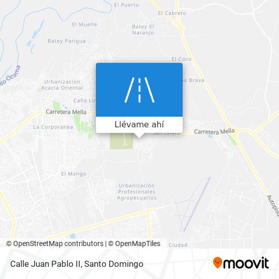 Mapa de Calle Juan Pablo II