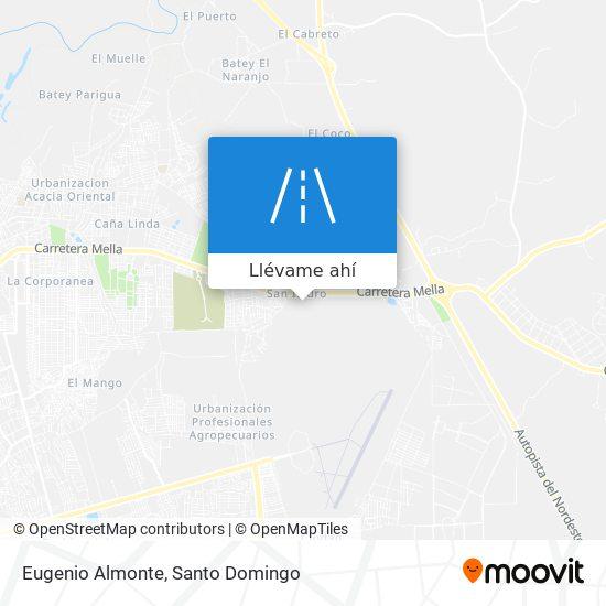 Mapa de Eugenio Almonte