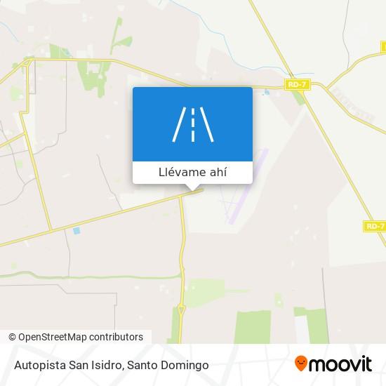 Mapa de Autopista San Isidro
