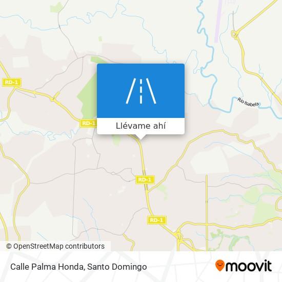 Mapa de Calle Palma Honda