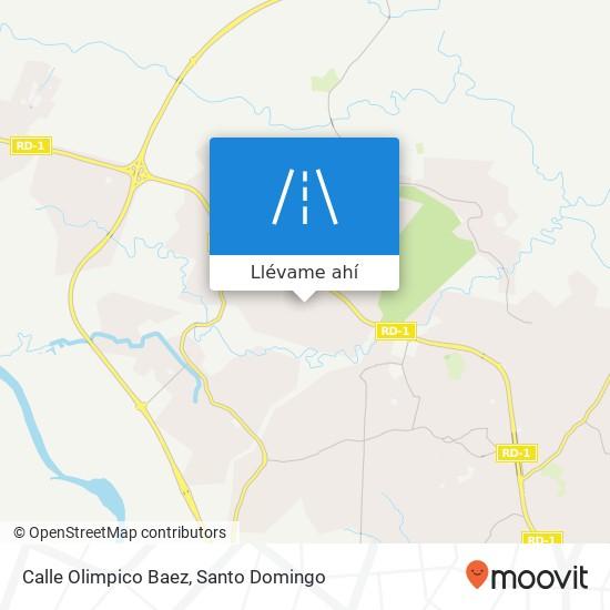 Mapa de Calle Olimpico Baez