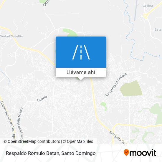 Mapa de Respaldo Romulo Betan