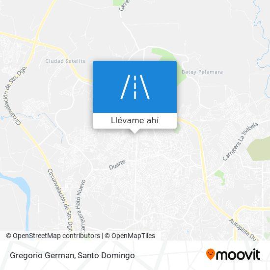 Mapa de Gregorio German