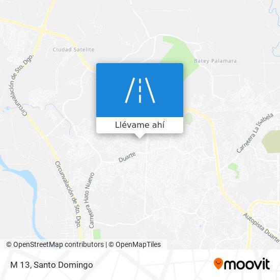 Mapa de M 13