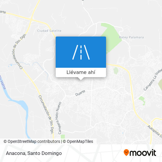 Mapa de Anacona
