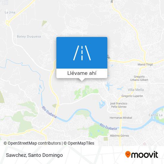 Mapa de Sawchez