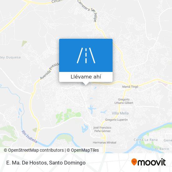 Mapa de E. Ma. De Hostos