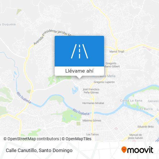 Mapa de Calle Canutillo