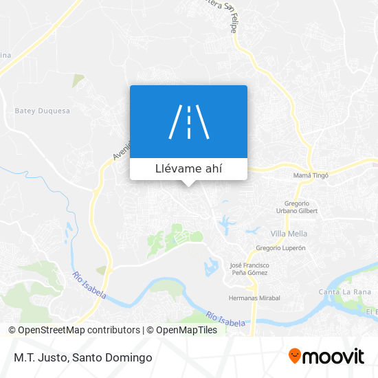 Mapa de M.T. Justo