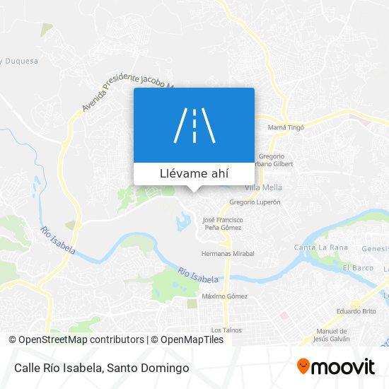 Mapa de Calle Río Isabela
