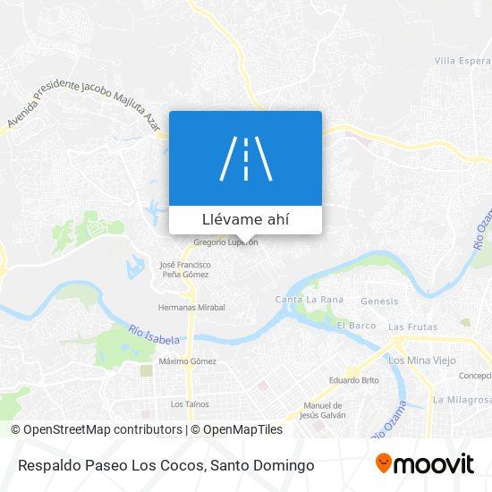 Mapa de Respaldo Paseo Los Cocos