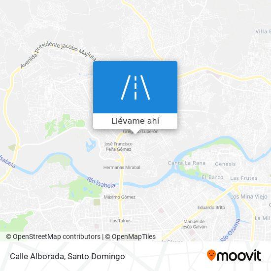 Mapa de Calle Alborada