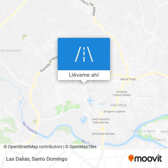 Mapa de Las Dalias