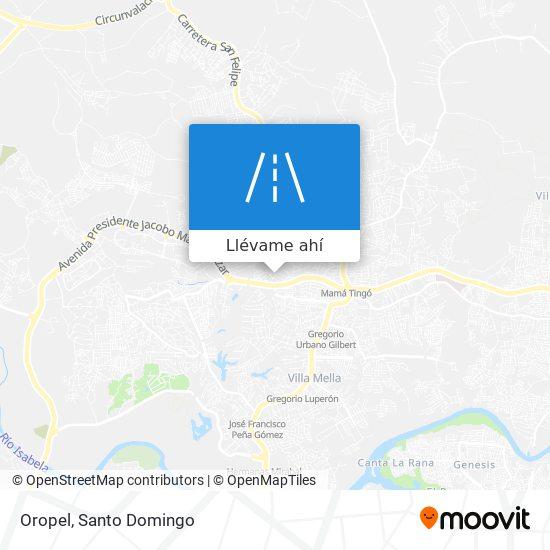 Mapa de Oropel