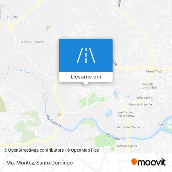 Mapa de Ma. Montez