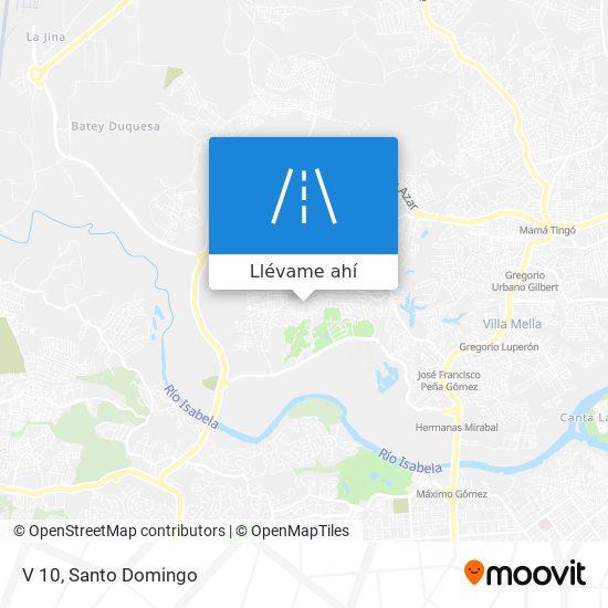 Mapa de V 10
