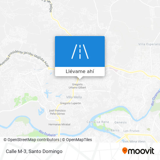 Mapa de Calle M-3