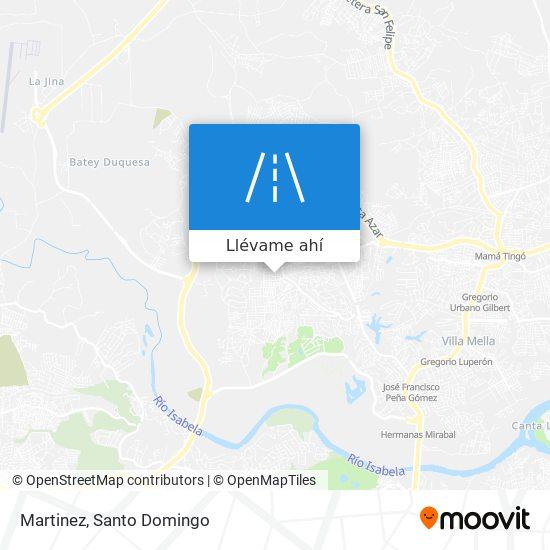 Mapa de Martinez