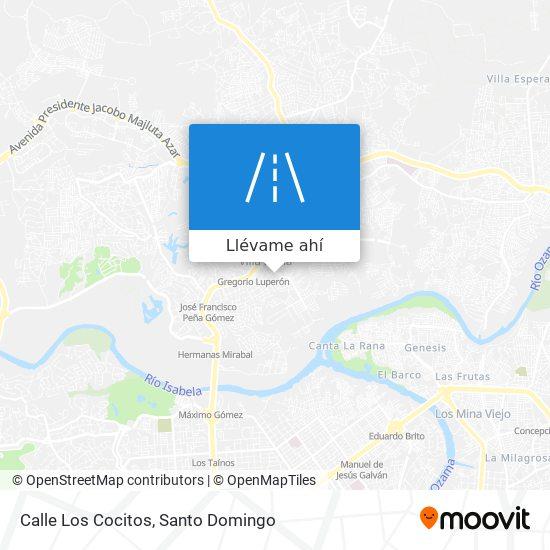 Mapa de Calle Los Cocitos
