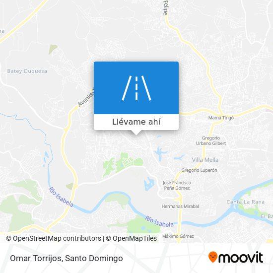 Mapa de Omar Torrijos