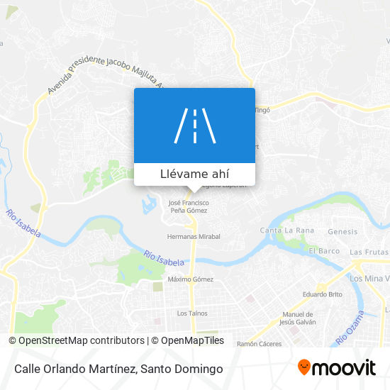 Mapa de Calle Orlando Martínez