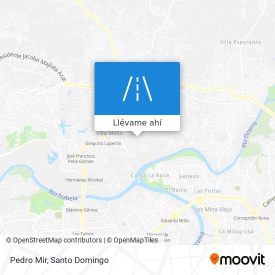 Mapa de Pedro Mir