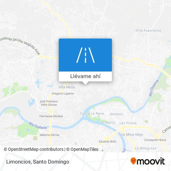Mapa de Limoncios