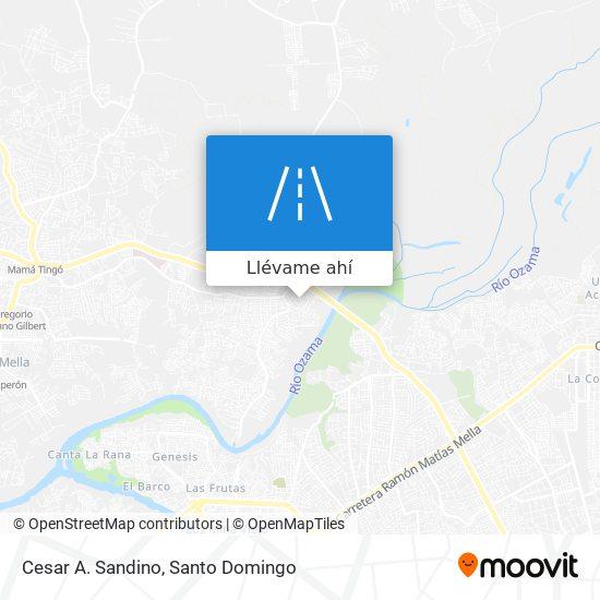 Mapa de Cesar A. Sandino