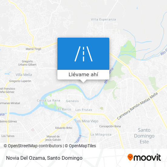 Mapa de Novia Del Ozama