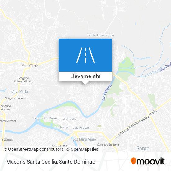 Mapa de Macoris Santa Cecilia
