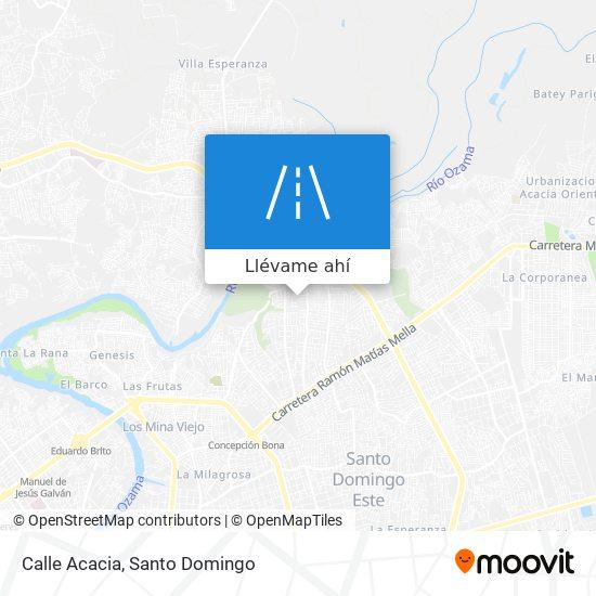 Mapa de Calle Acacia
