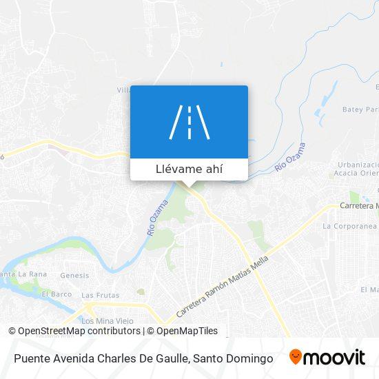 Mapa de Puente Avenida Charles De Gaulle