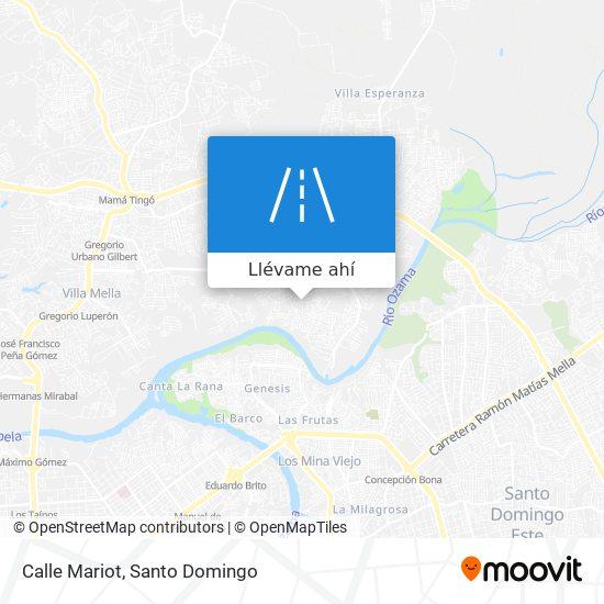 Mapa de Calle Mariot