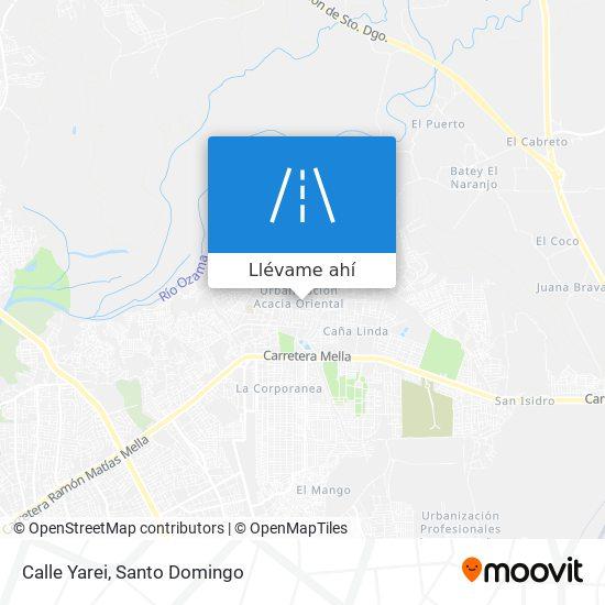 Mapa de Calle Yarei