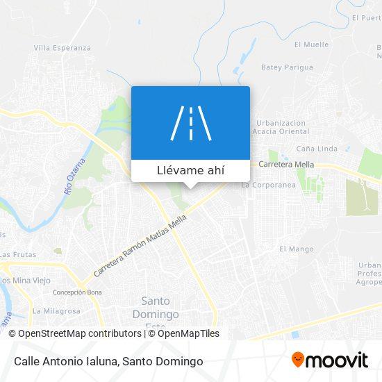 Mapa de Calle Antonio Ialuna