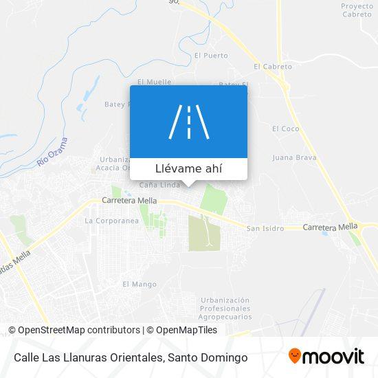 Mapa de Calle Las Llanuras Orientales