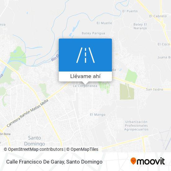 Mapa de Calle Francisco De Garay