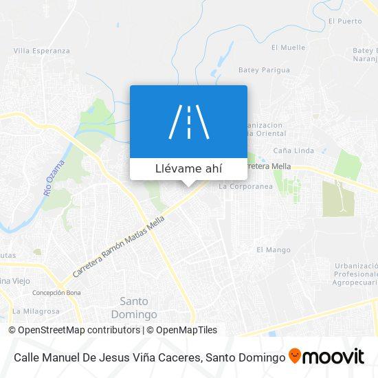 Mapa de Calle Manuel De Jesus Viña Caceres