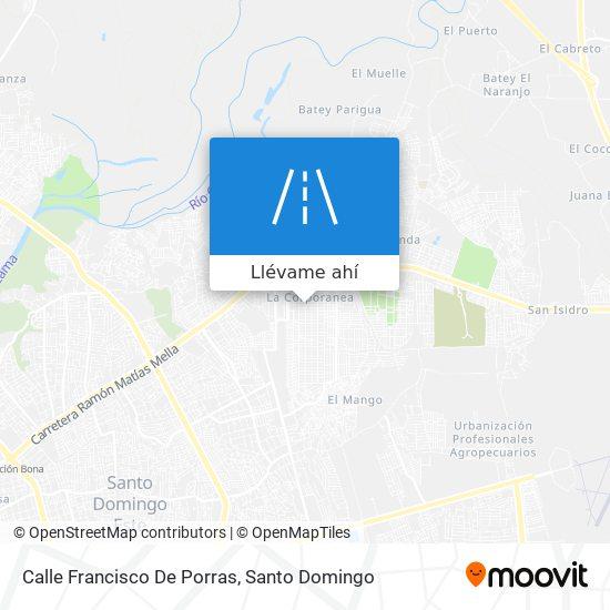 Mapa de Calle Francisco De Porras