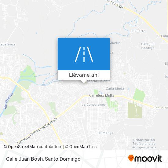 Mapa de Calle Juan Bosh