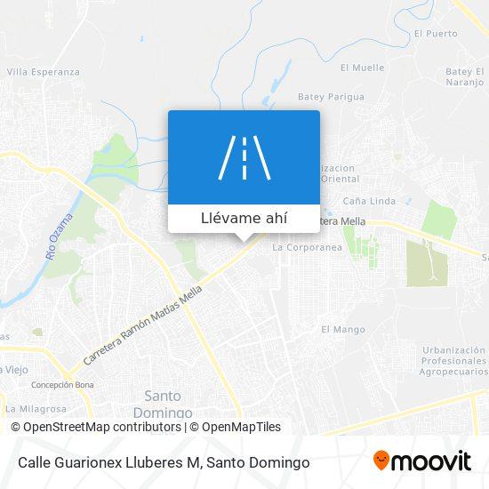 Mapa de Calle Guarionex Lluberes M