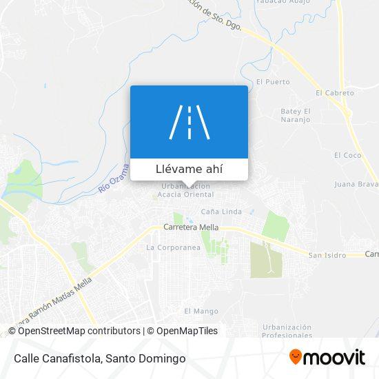 Mapa de Calle Canafistola